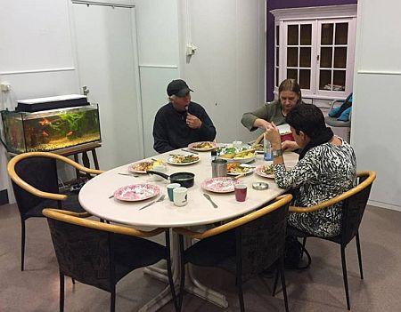 Tryout eten met daklozen
